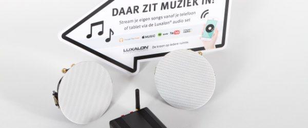 aluminium plafond muziek inbouw luxalon